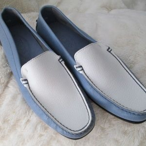 Tod's Blue & White Driving Shoes,excellent cond.